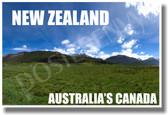 New Zealand - Australias Canada - NEW World Travel Poster