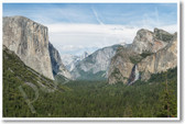 Yosemite Valley from Tunnel View in Yosemite National Park CA US - NEW World Travel Poster