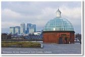 Entrance to the Greenwich Foot Tunnel - London - NEW World Travel Poster