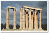 The Temple of Olympian Zeus at Athens - NEW World Travel Poster