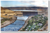 Grand Coulee Dam - Washington State - NEW World Travel Poster