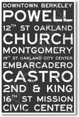 Oakland Signs - NEW World Travel Poster