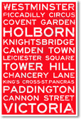 London Signs - NEW World Travel Poster