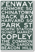 Boston Signs - NEW World Travel Poster