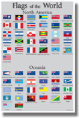 Flags of the World 3 - NEW World Travel Poster