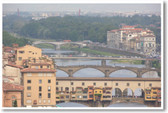 Ponte Vecchio over the Arno River in Florence Italy Poster
