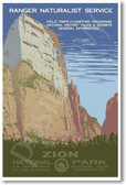 Zion National Park - Vintage Reproduction Poster