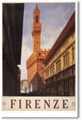 NEW Travel Vintage Art Tourism POSTER - Firenze Italy 1938 Florence