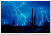 Lightning Storm in the Desert