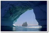 Sailing to Antarctica Iceberg Melting Global Warming Climate Change Poster