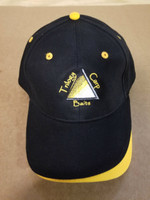 Embroidered Ball Cap-Black/Gold