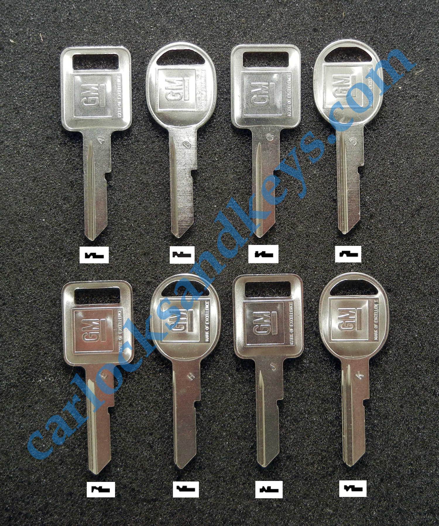 4 GM ORIGINAL CHEVY BUICK PONTIAC OLDSMOBILE KEY BLANKS 1969 1973 1977 1981