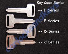 1986+ Suzuki DR100, DR125, DR200, DR250, DR350, DR-Z Models Key Blanks