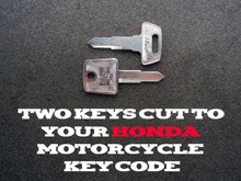 1983-2008 Honda Nighthawk Motorcycle Keys Cut By Code - 2 Working Keys