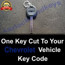 2014-2021 Chevrolet Silverado Truck High Security Key Cut To Your Key Code