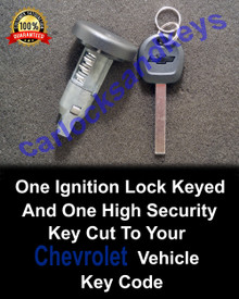 2014-2017 Chevrolet Silverado New Ignition Lock Keyed And Key Cut To Your Key Code
