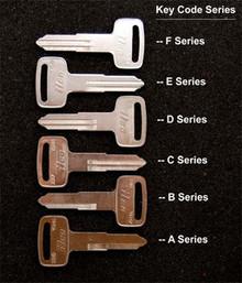 1980-2007 Yamaha XT250, XT350, XT500, XT550,  XT600 Motorcycle Keys