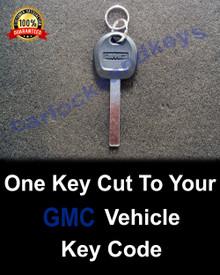 2015-2019 GMC SIerra Truck High Security Key Cut To Your Key Code