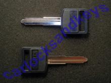 2013, 2015 Suzuki GW250 Key Blanks With A Black Plastic Head Or Bow