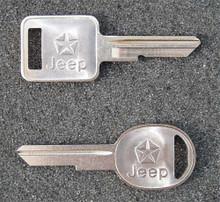 1985-1990 Jeep CJ5 and CJ7 Key Blanks