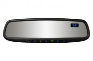 50-GENK45AMB5 Gentex Auto-Dimming Rearview Mirror w/ Compass, Blue Backlit Buttons & HomeLink Version 5