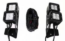 RSL14-12w 4 x 12W CREE Square Cube Light + L14 Jeep JK 07-17 Bracket (1005227)