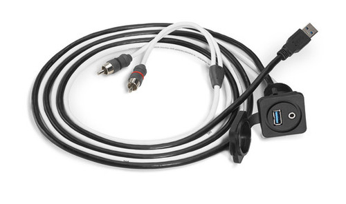 JL Audio XMD-USB/3.5MM-PNL: Combo 3.5 mm Audio Jack and 9 Wire USB Port for Panel-Mounting