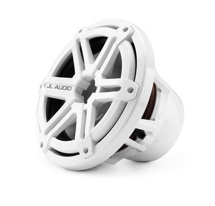 JL Audio M10IB5-SG-WH: 10-inch (250 mm) Marine Subwoofer Driver, White Sport Grille, 4 Ω