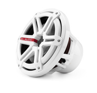 JL Audio M10W5-SG-WH: 10-inch (250 mm) Marine Subwoofer Driver, White Sport Grille, 4 Ω