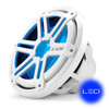 JL Audio MX10IB3-SG-WLD-B: 10-inch (250 mm) Marine Subwoofer Driver, White Sport Grille with Blue LED, 4 Ω