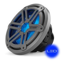 JL Audio MX10IB3-SG-TLD-B: 10-inch (250 mm) Marine Subwoofer Driver, Titanium Sport Grille with Blue LED, 4 Ω