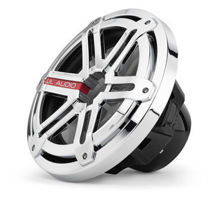 JL Audio MX10IB3-SG-CR: 10-inch (250 mm) Marine Subwoofer Driver, Chrome Sport Grille, 4 Ω