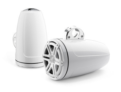 JL Audio M880-ETXv3-SG-WH: 8.8-inch (224 mm) Enclosed Tower Coaxial System, White Gel-Coat, White Sport Grilles