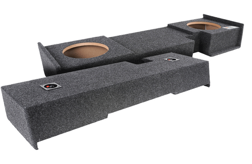 Custom down fire under rear seat. *Will not work with F250/F350 Extended Cabs.