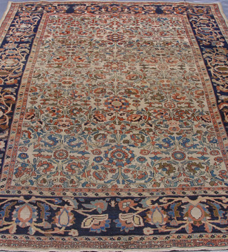 "Antique Persian Mission Malayer  8'10"" x 11'7"""