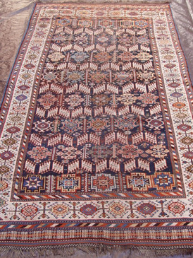 "Antique Persian Qashqai  5'7"" x 10'3"""
