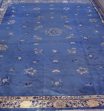 Chinese  Peking  Blue Antique  12' x 17'3""