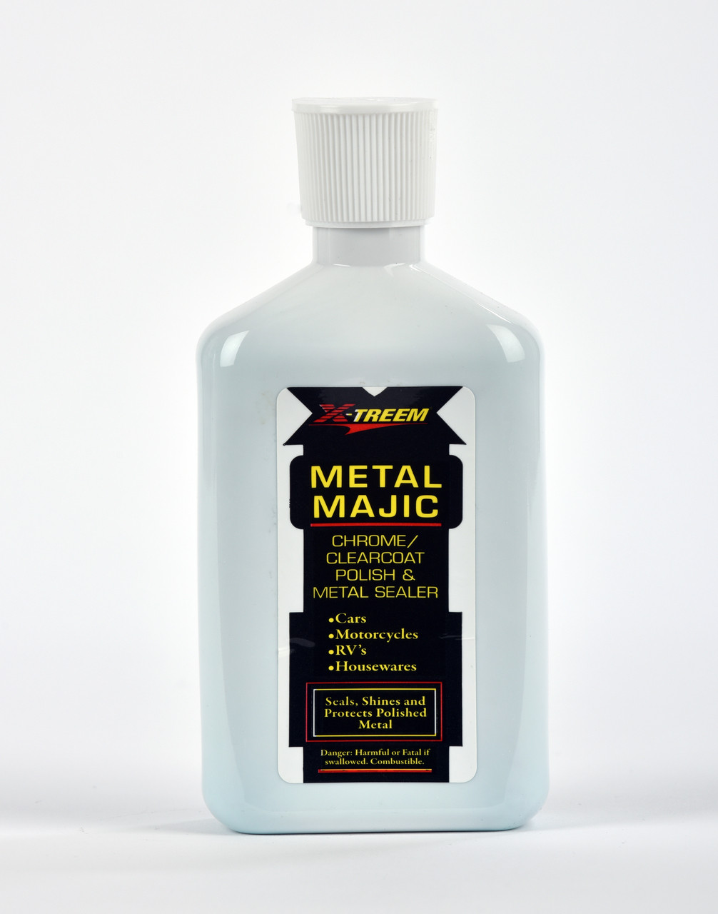 Metal Majic provides the finishing touch on clear coated and painted surfaces. Removes fallout, light surface contamination and water spots while restoring gloss. It will even remove metallic brake dust that bonds to your painted, clear coated or chrome wheels!