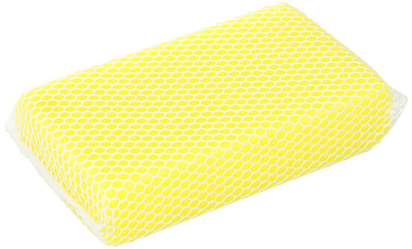 Heavy-duty mesh sponge cleans away bugs, dirt, tar and grime on windshields.  Can also be used on chrome and whitewalls.  The extra absorbent sponge easily fits in your hand.  It measures 3.5 inch x 5.5 inch x 1 inch in size.