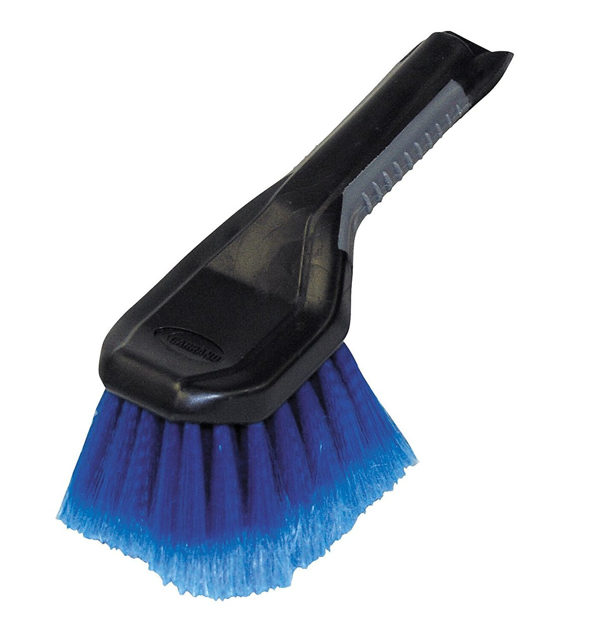 """This Wheel & Bumper Brush makes it easy to maintain the appearance of wheels and bumpers. This multi-purpose brush features:  Soft feathered bristles Comfort molded hndle 9"""" size"""