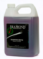 Diamond Brite is a purple, non-alkaline, ready-to-use, spray-on/rinse-off wheel cleaner. It is tough on brake dust, grease and road grime and rinses off easily after application. Diamond Brite contains metal brighteners specifically designed to clean and brigthen coated aluminum, painted and spoke wheels to leave them with a bright showroom shine