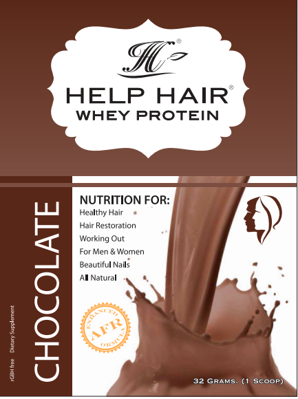 Help Hair Shake Minis Single serving On the Go Pouches Whey protein for hair growth.