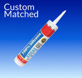 Silicone colored caulk for custom colors