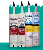Tile and grout caulk