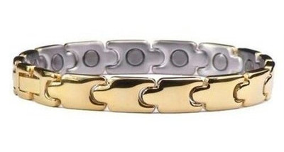Pot O'Gold - gold-plated Stainless Steel  Magnetic Bracelet