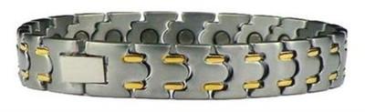 Gilded Streaks -   Titanium Magnetic  Bracelet