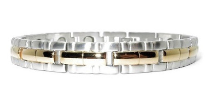 Gold Tone River gold-plated Stainless Steel  Magnetic  Bracelet