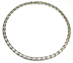 Silver Classic - silver-plated Stainless Steel Magnetic Necklace