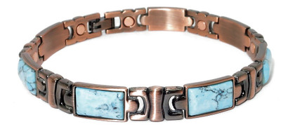 Seattle - Copper simulated Turquoise  Magnetic Bracelet