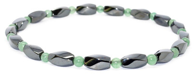 Simulated Jade Hematite Anklet  - Magnetic Therapy Anklet